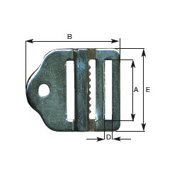 25mm Ladder Lock Buckle In Stainless Steel